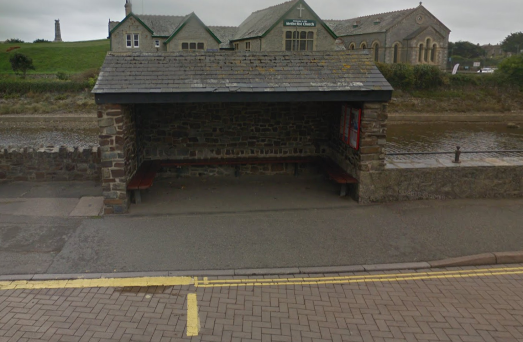 The main bus stop of Bude